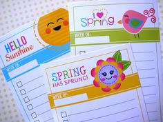 Free Printable. Spring To-Do Lists!