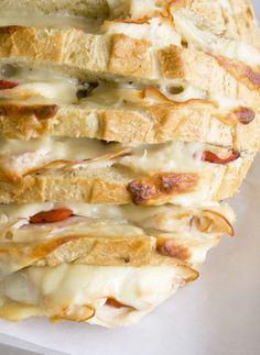 Amazing Cheesy Stuffed Sourdough Loaf - Click for Recipe