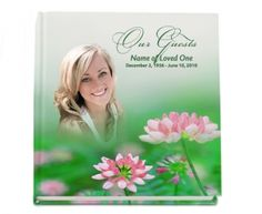 Hardcover Guest Books : Ambrosia Hardcover Guest Signin- Registry Book with Custom Photo on Cover Design