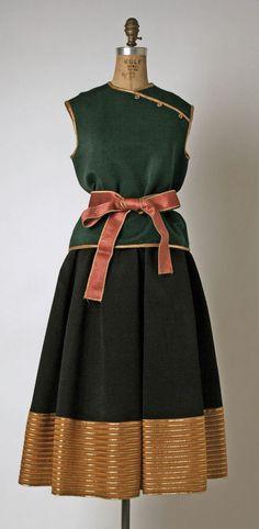 Dress Geoffrey Beene (American) ca. 1970s silk, metallic
