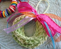 Crochet Chain Wreath Ornament