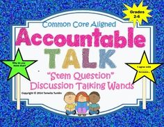 These fun wand stem questions are excellent for whole group, small group or even partner discussions. Get your students into a purposeful discussion! $