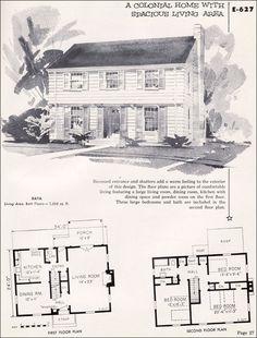 garrison colonial house, hous plan, 1930s hous, house plans
