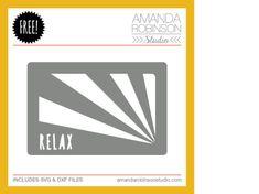 Relax Card Freebie | cutting file  | Silhouette #Cutfile