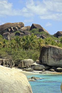 The unique rock formations at the Baths of Virgin Gorda in British Virgin Islands.    http://blog.luxetravel.com/blog/bid/226188/Savor-your-Vacation-on-the-Best-Private-Beaches#