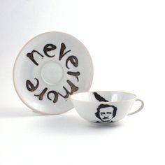 the raven, alter edgar, allan poetea, porcelain, edgar allan poe, coffee cups, cup vintag, coffe cup, ravens