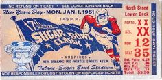 1950 National Title season for Bud Wilkinson. Oklahoma lost in this Sugar Bowl, but were voted 1950 National Champs! http://www.shop.47straightposters.com/Oklahoma-Football-Tickets-OU-OSU-Tulsa-Tickets_c17.htm