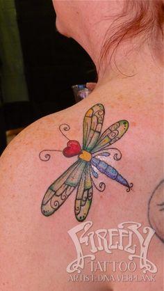 dragonfly tattoo Dina verplank firefly tattoo