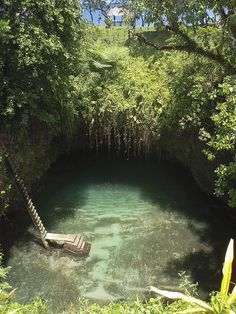 Another view of Te Sua Ocean Trench in Upolu Island, Samoa.