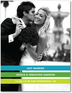 Wedding Announcement Postcards Marriage Bands