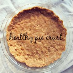 Healthy Thanksgiving Crust!