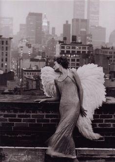 Angel Harper's Bazaar, December 1993 by Peter Lindbergh Model: Amber Valletta