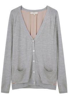 vanessa bruno cardigan with lining...l