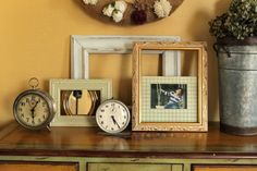 Clever ways to use frames   Love My Simple Home