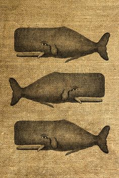 INSTANT DOWNLOAD Whale Vintage Illustration