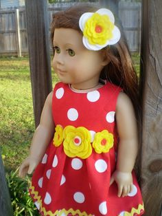 18 Doll Clothes American Girl Red White by sassydollcreations, $10.99