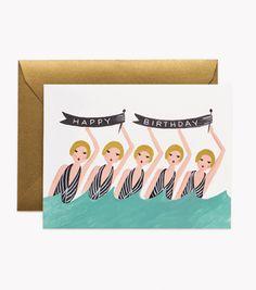 rifle paper co | synchronized birthday card