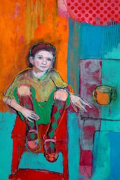 Girl With Argyle Socks,  by Maria Pace-Wynters