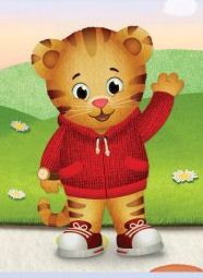 Daniel Tiger's Neighborhood Party. Creating cardboard cutouts of characters to have around the room