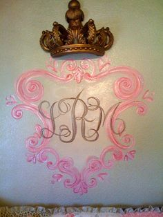 Hand Painted  ~ Monogram for a princess