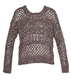 Just Jeans - Womens - Tops - Open Knit Boyfriend Sweater