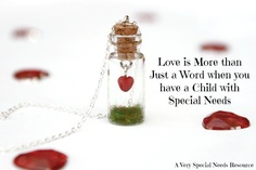 Love is more than just a word when you have a child with special needs