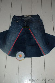 Turn your jeans into a skirt