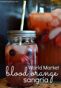 World Market Blood Orange Sangria from anightowlblog.com >> #WorldMarket Outdoor Movie Night