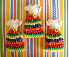 Mexican dresses cookies