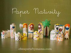 Paper Nativity- free printable!