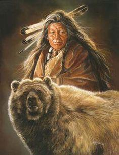 """Kindred Spirits"" by Maija native artwork, bear"