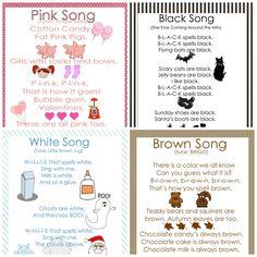 Preschool Color Songs-Free Printables