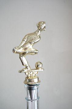 Cartoon Bowler  Stainless Steel Vintage Trophy by CaprockStudio, $18.00