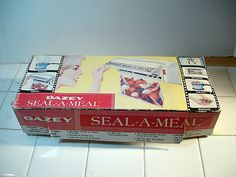 Vintage 1968 Ronco Dazey Seal-A-Meal Never Used Complete in Box As Seen on TV