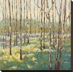 guest room, living rooms, canvas prints, bluegreen, blue green, libbi smart, trees, art print, blues