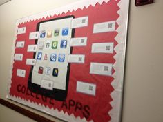 Bulletin board ideas, college apps