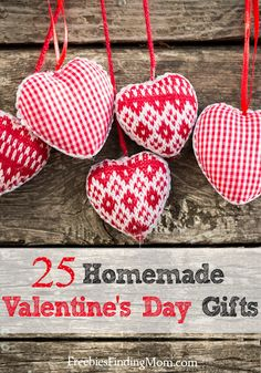 25 homemade Valentine's Day gifts sure to inspire you! #homemadeValentinesDaygifts #ValentinesDaygifts