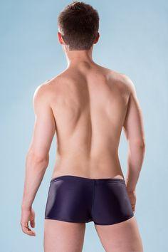 Dietz - Boxer Swimsuit Deep - Back - www.johnnybeachbuns.com