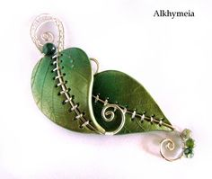 Chlorophyll, the Pendant by Alkhymeia.deviantart.com on @deviantART clays, pendants, jewelry necklaces, chlorophyl, art, wallpapers, alkhymeia, polym clay, polymer clay