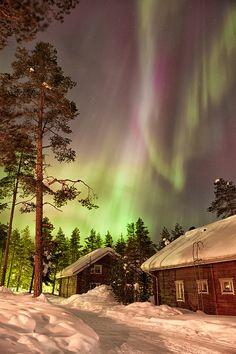 Solar Storm Over Rovaniemi, Finland