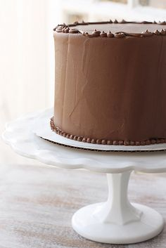 ... rich chocolate cake with chocolate buttercream frosting ...