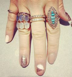 Tamar from Arik Kastan always has the best nails- and the best rose gold.