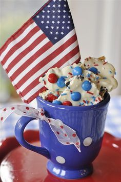 Red, White and Blue Cookie Bark-4th of July