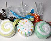 wash cloth lollipops!