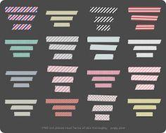 free digital washi tapes graphic design, free digital washi tape, digi washi, lindsay teagu, t shirt scarves, font, clip art, design blogs, masking tape