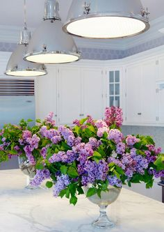 kitchen island lilacs