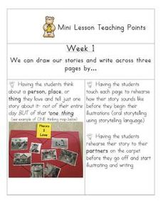Common Core Narrative Writing: Transitional Kinder and Kindergarten Students