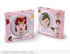 Funny food plates  - dinner plates for kids. Makes eating healthy more fun!