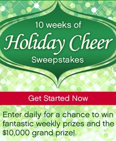 My #Recipes #Holiday #Cheer #Sweepstakes  happy holidays, hope you see that I stop in to see you each day