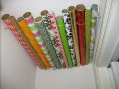 Wrapping paper on ceiling!!! Genius!